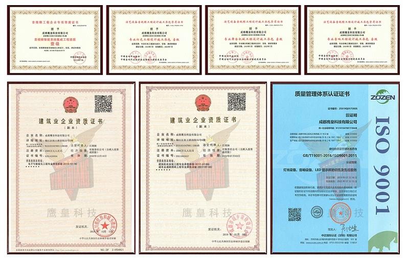 荣誉、资质证书