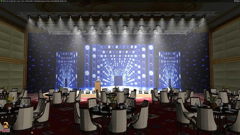 宴会厅灯光音响效果图