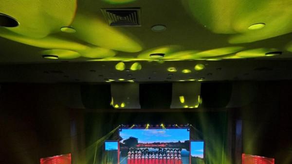 广安大型原创合唱组曲《金广安》舞台灯光音响LED显示屏及会场布置