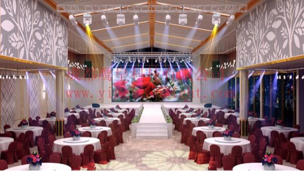 遂宁宴会厅舞台灯光音响LED显示屏设计方案