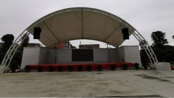 四川大学附属中学新城分校体育场户外防水线阵音箱