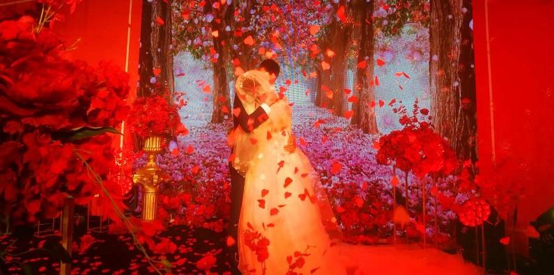 成都崇州婚礼堂LED显示屏设计【鹰皇分享】