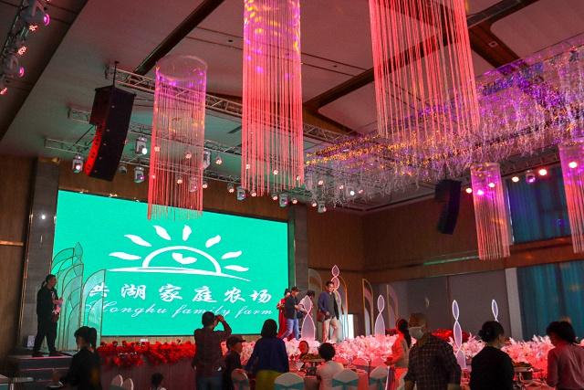 洪湖家庭农场宴会厅LED显示屏